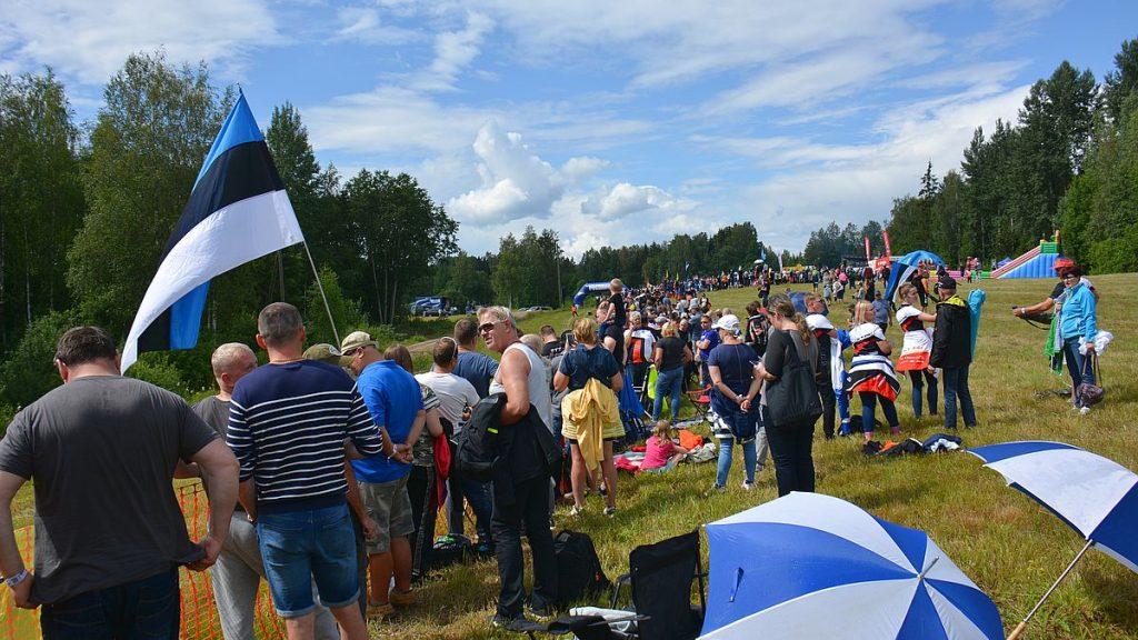Truuta spectator area på Rally estonia i Tartu