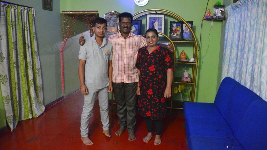 Familj i Sri Lanka