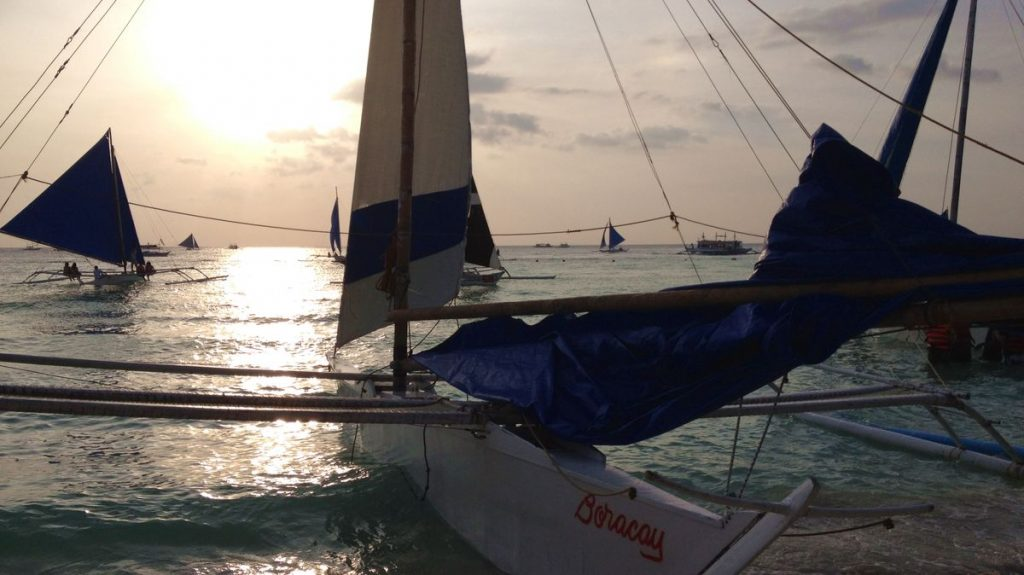 Filippinerna Sunset sailing
