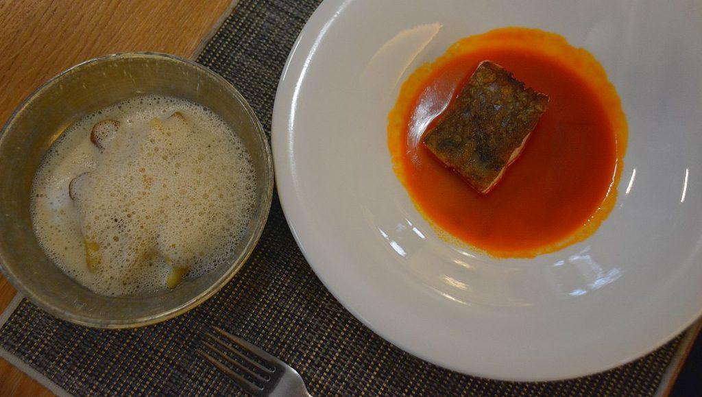 Fisk på Platan restaurant, Tata i Ungern