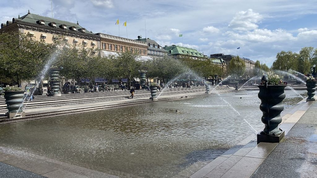 Kungsträdgården i Stockholm, där palatset Makalös låg en gång i tiden