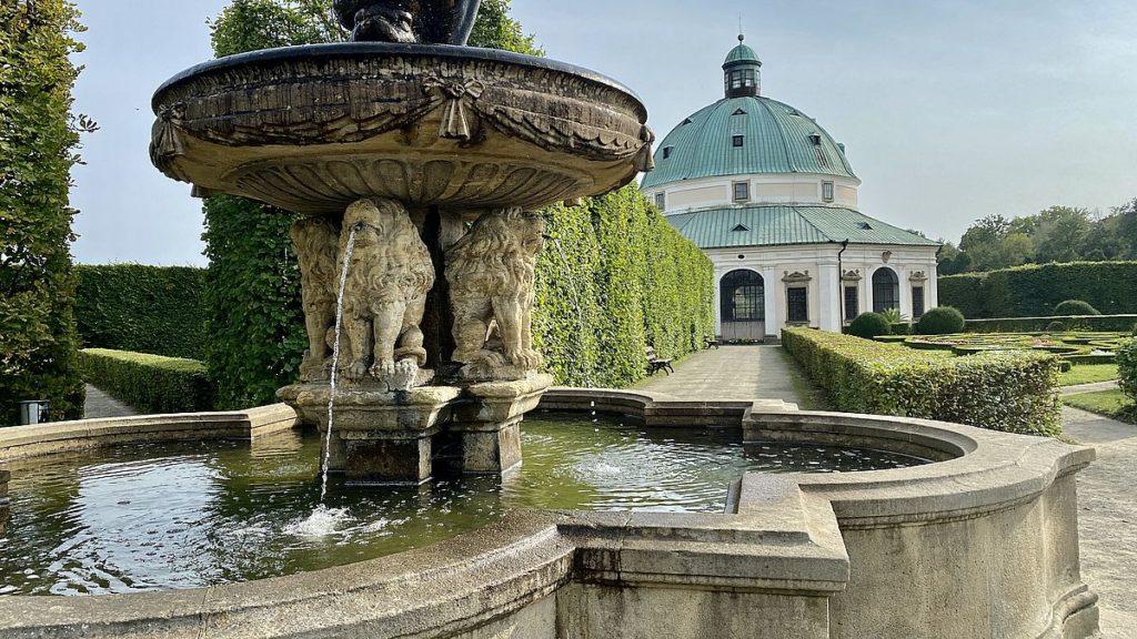 Kroměříž - fontän