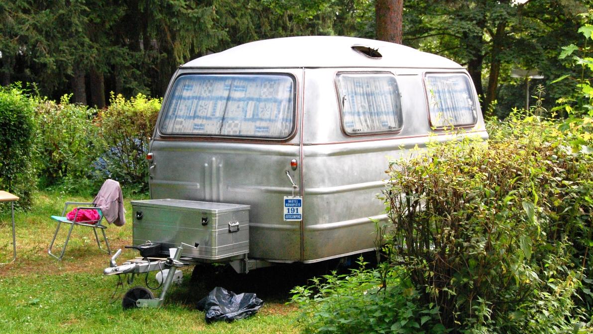 En charmig gammal husvagn som vi såg i Tjeckien för några år sedan