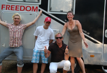 Freedom on tour i Kroatien sommaren 2011: Billie, Alvari, Peter och Helena