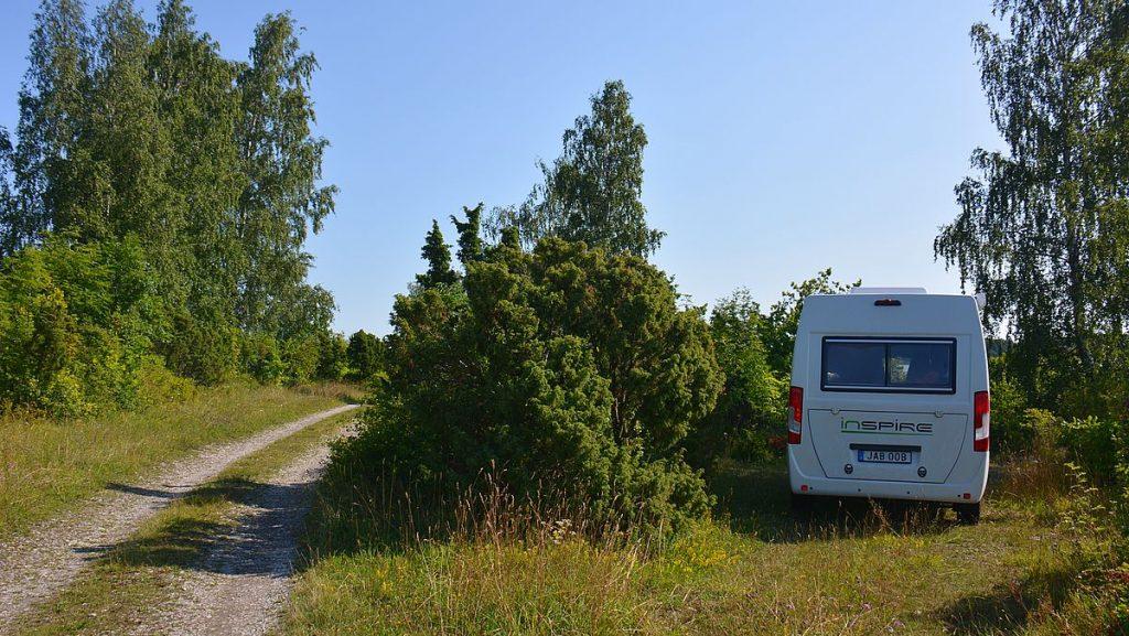 Fricamping på Dagö i Estland