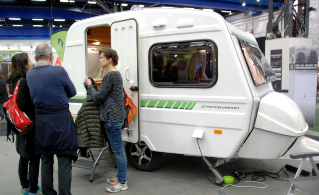 Fritidsvagnen är en liten och lätt husvagn