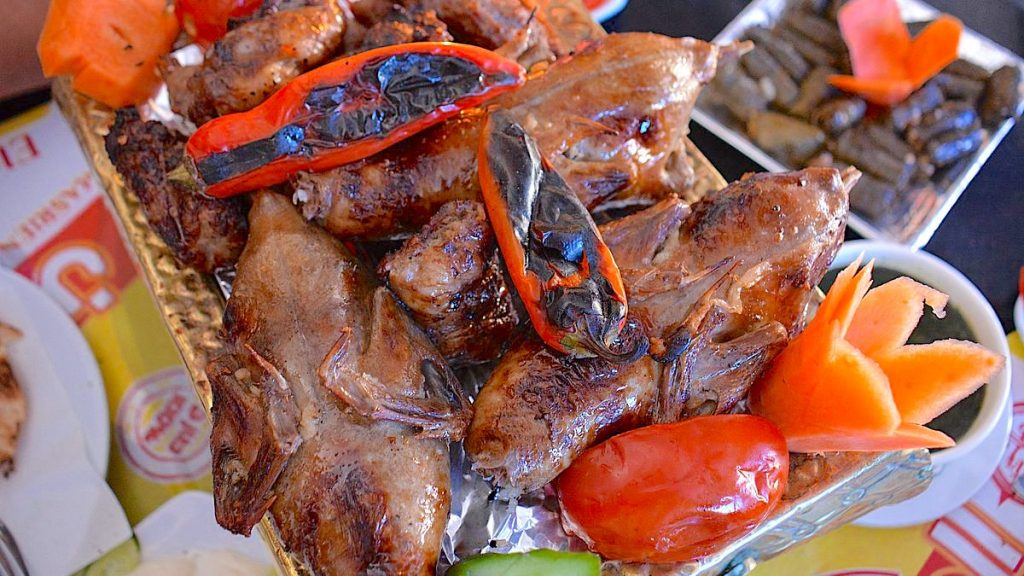 Mat i Egypten - fyllda duvor