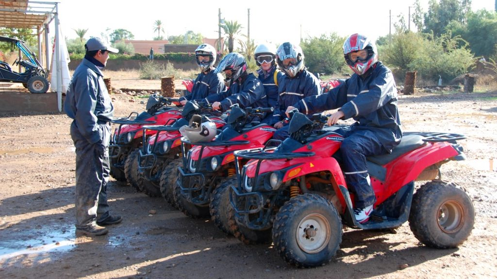 Fyrhjuling i Marocko