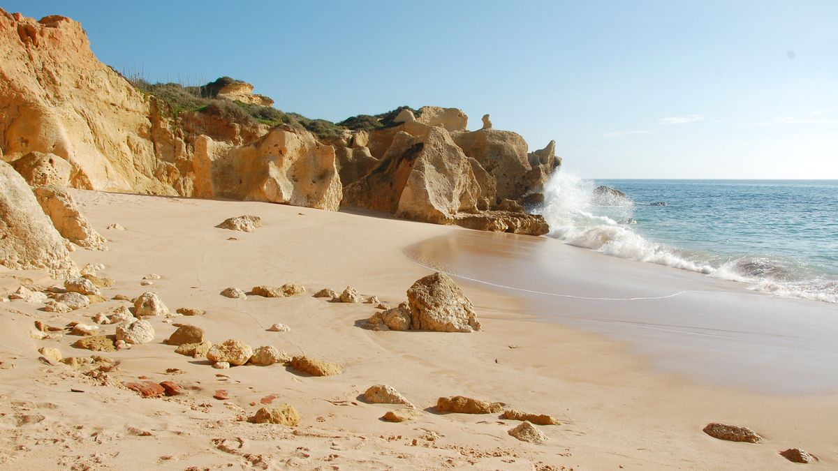 Stranden i Galé, Albufeira - Portugals bästa strand