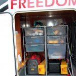 Ordning i husbilen – teknikrum i garaget