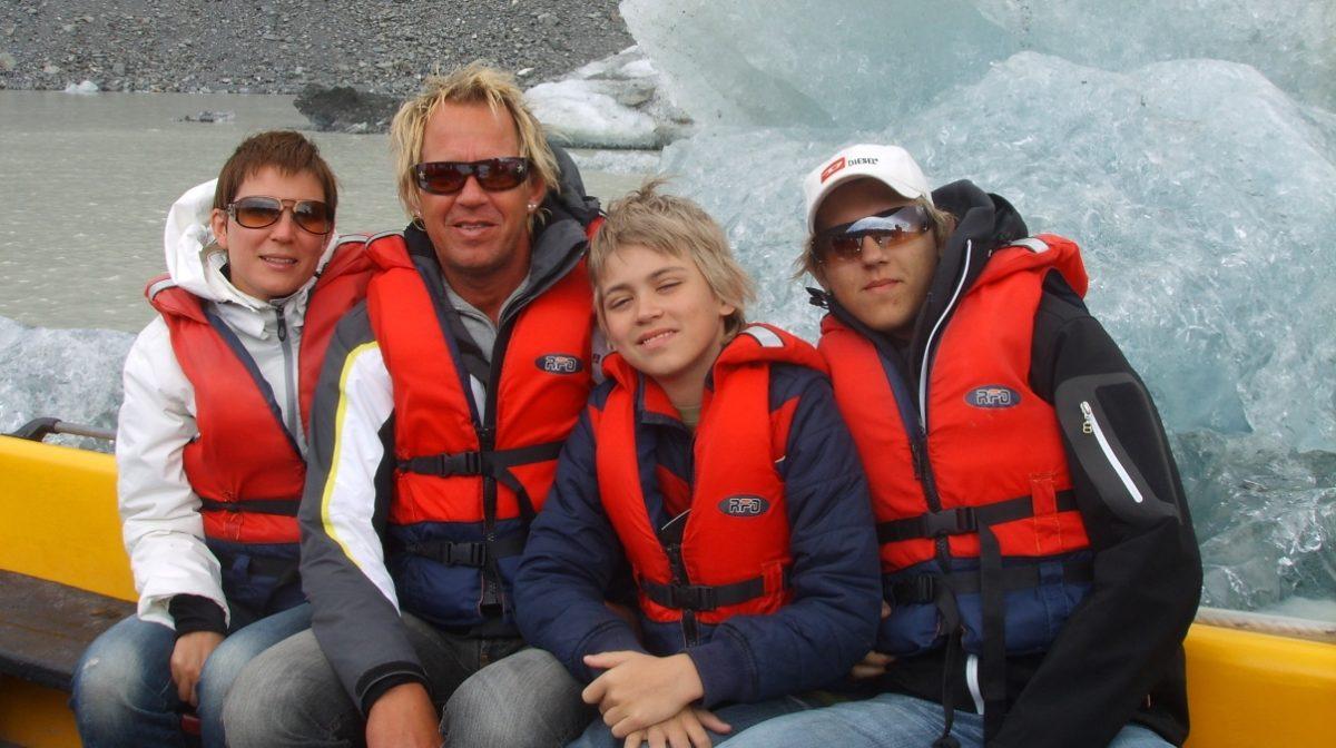 Glaciärsjö Nya Zeeland