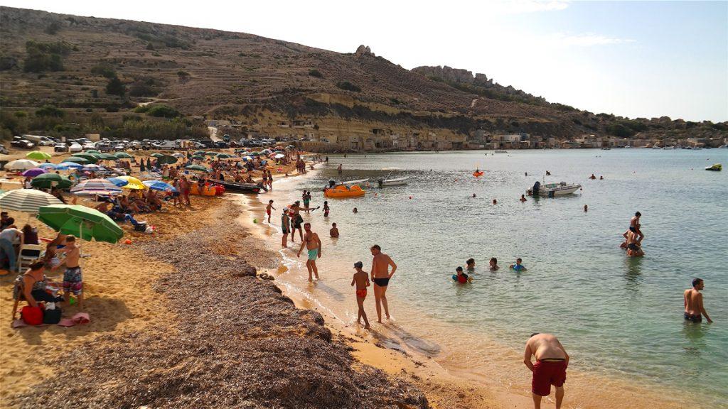 Gnejna beach på Malta