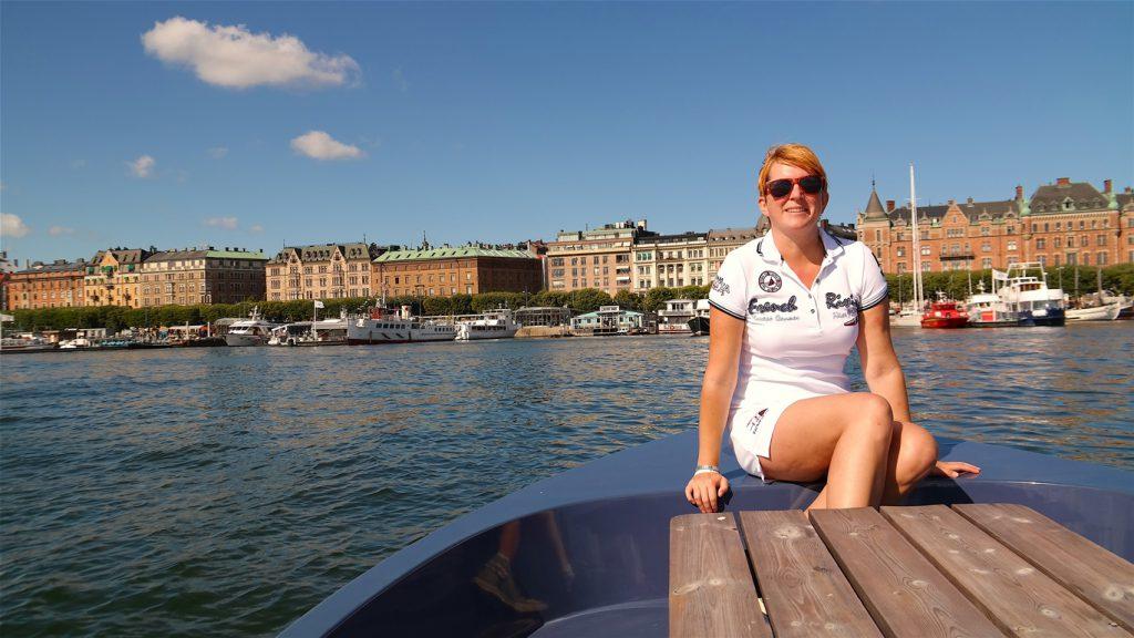 Ombord på Goboat i Stockholm