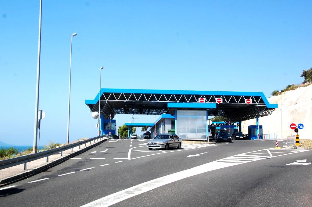 Gränskontrollen från södra Kroatien, in i Bosnien och Hercegovina