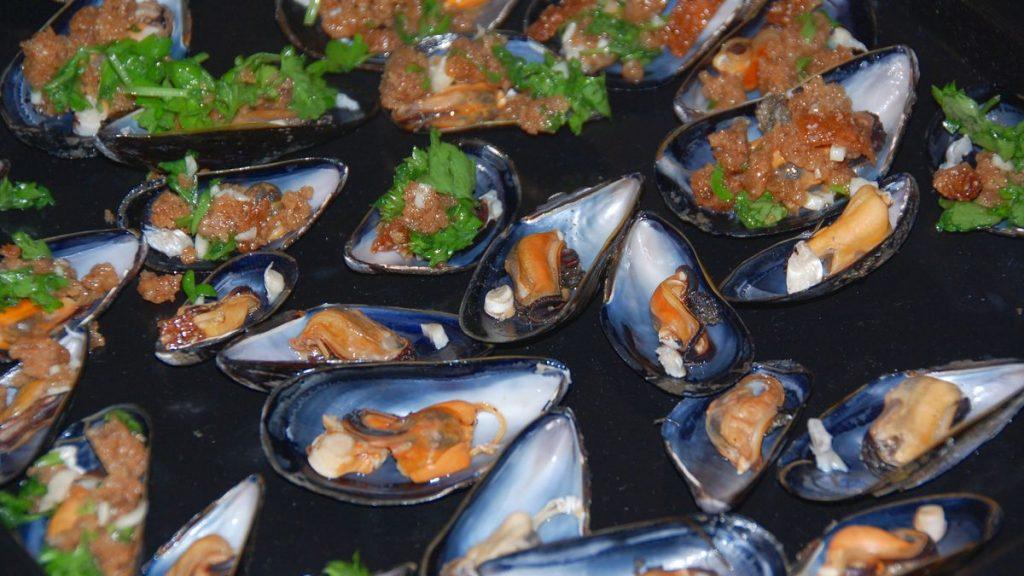 Recept på skaldjur - Gratinerade musslor