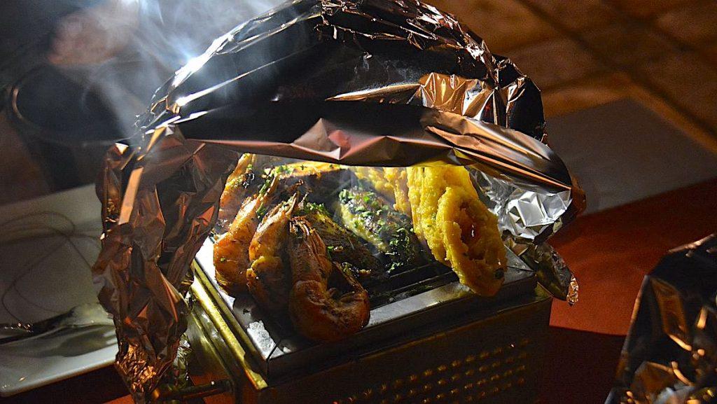 Grillade skaldjur på Il Mercato