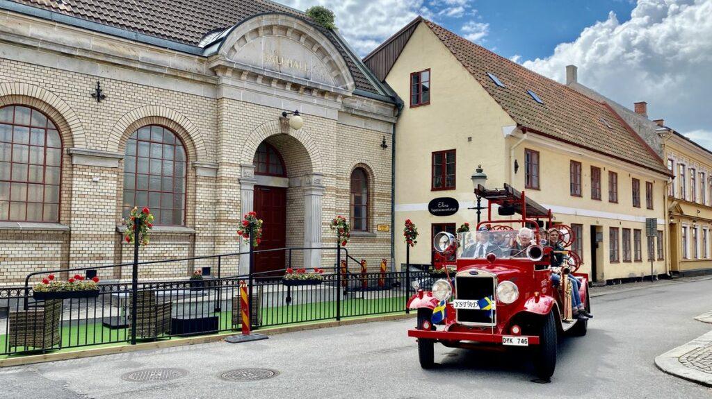 Göra i Ystad - veteranbrandbil