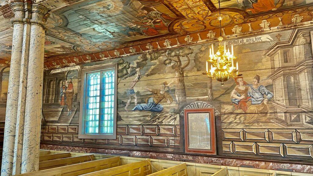 Habo kyrka väggmålningar