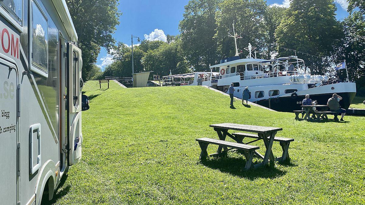 Göta kanal med husbil - Hajstorp