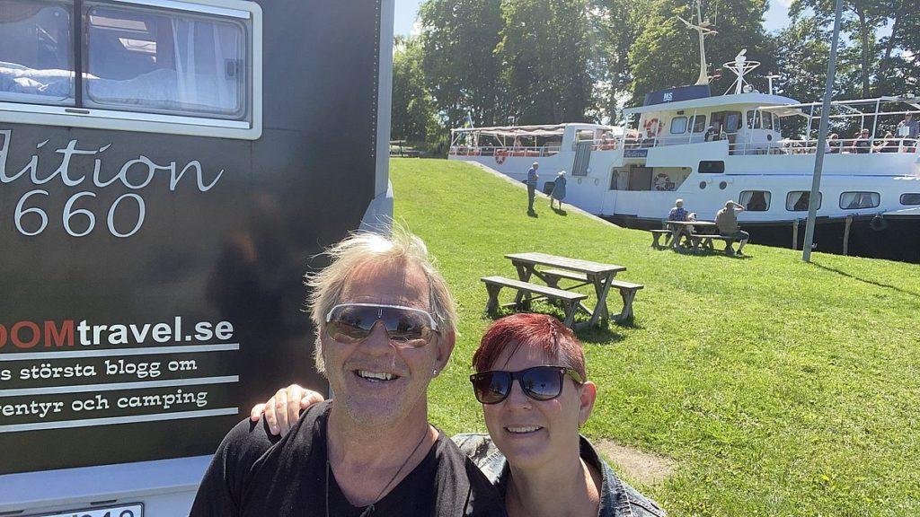 Göta kanal med husbil - Hajstorp selfie