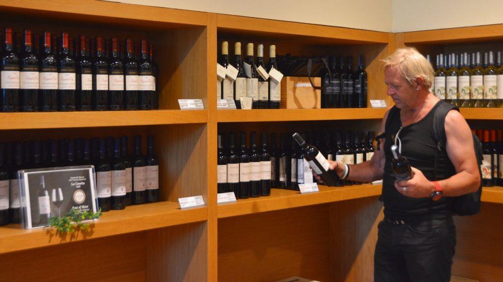 Handla vin i Italien