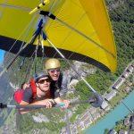 Hängflygning i Interlaken och båt på Brienzsjön i Schweiz