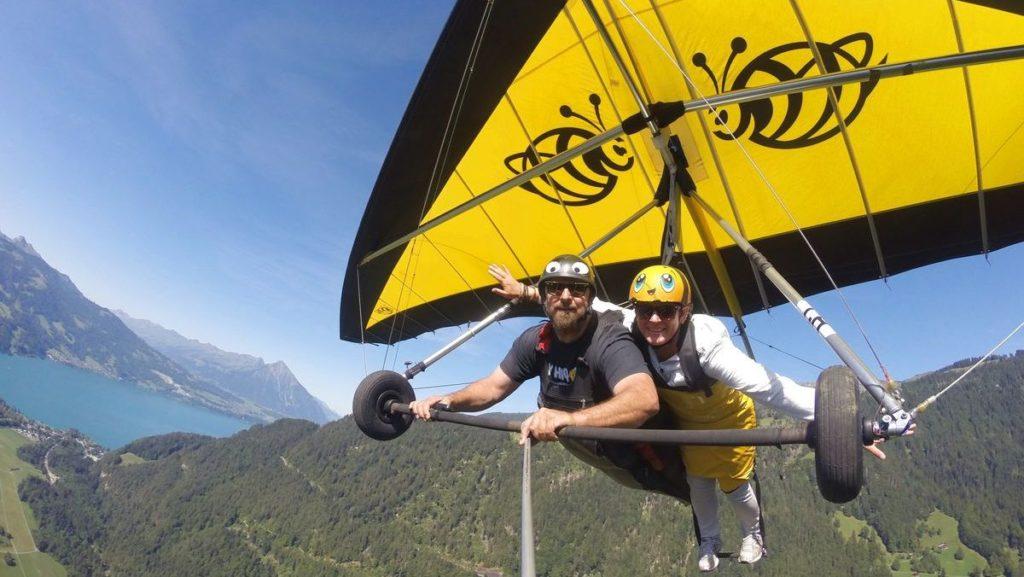 hanggliding - Naturupplevelser i Schweiz