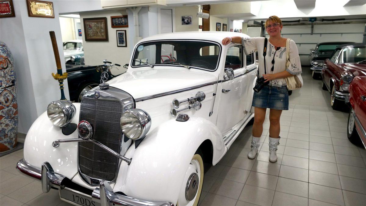 Privat samling av bilar på Malta