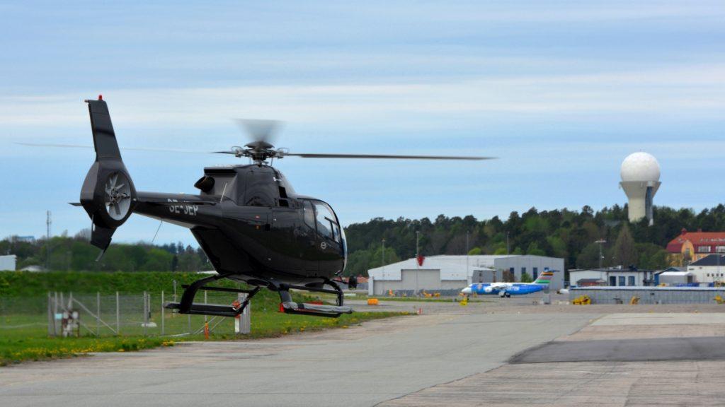 Helikopter över Stockholm