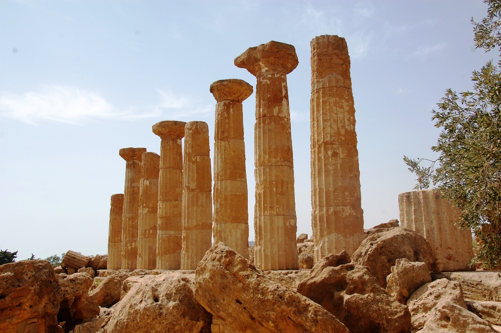 Herkulestemplet i Agrigento, Sicilien
