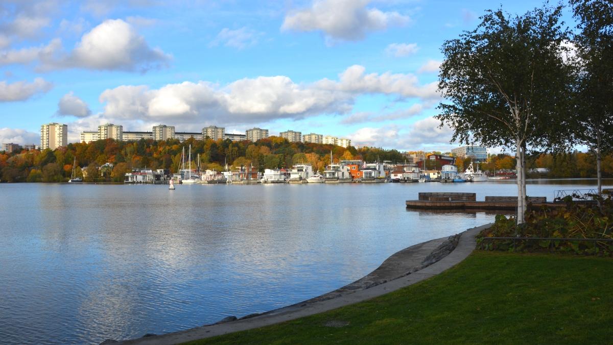 Hornsbergs strandpark och Sandö Sugga fyr