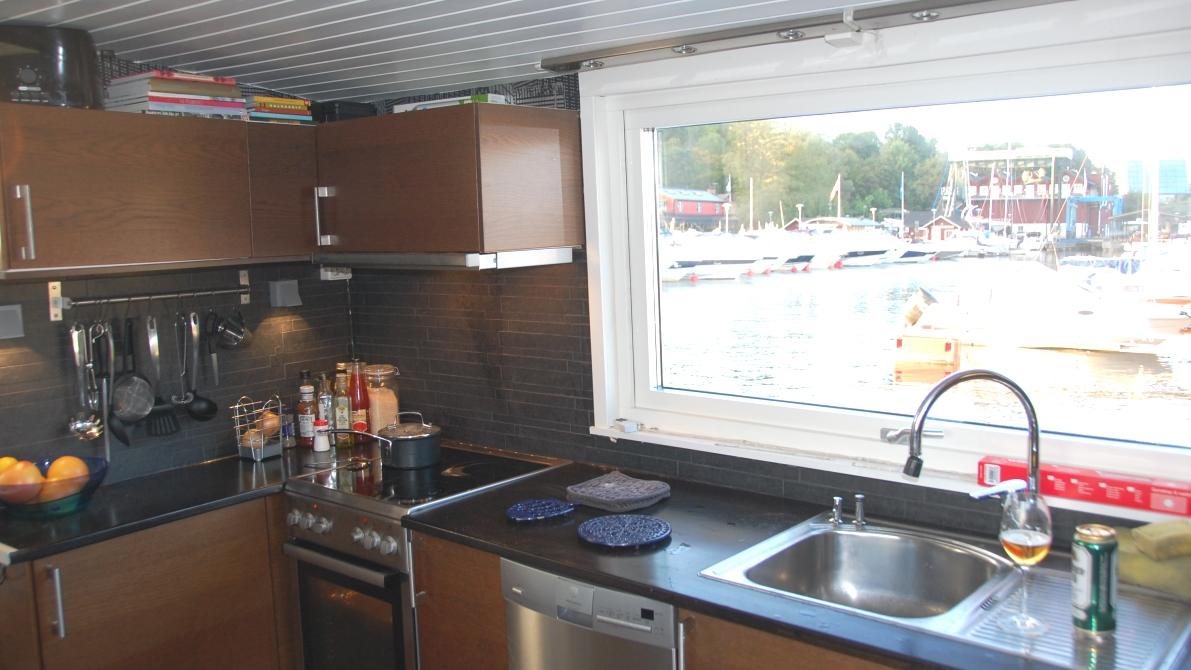Husbåt kök