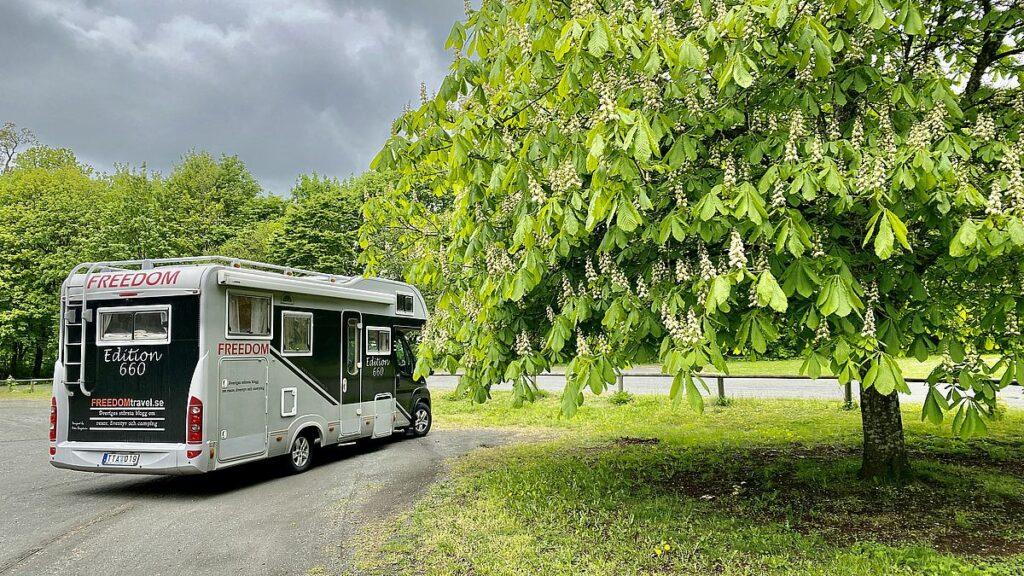 Med husbilen vid Kronovalls slott