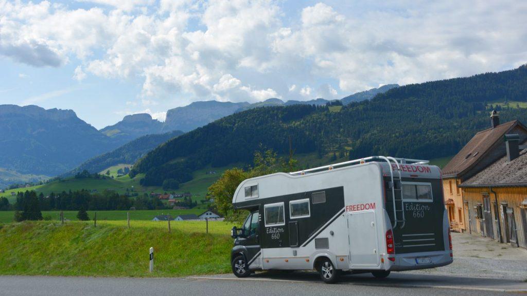 Husbil i Schweiz