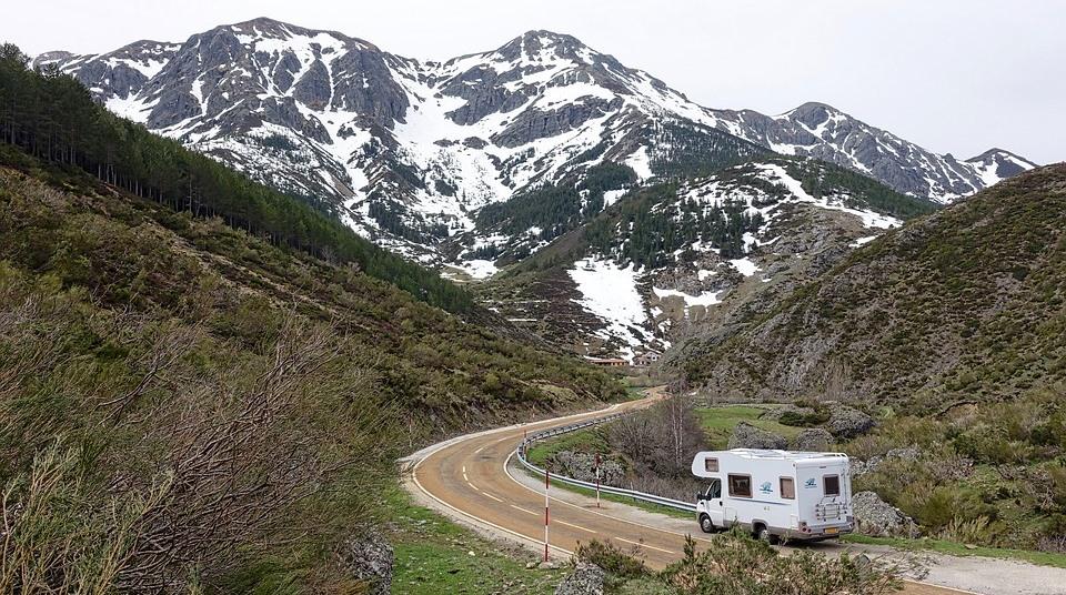 Husbil i bergen