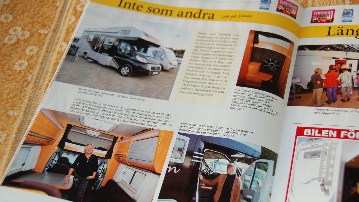 Reportage om FREEDOMtravel i Husbilen Test