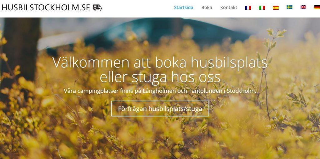 Husbilscamping Stockholm