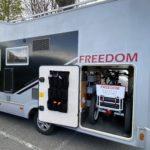Ny inredning i husbilens garage – och plats för elcyklar