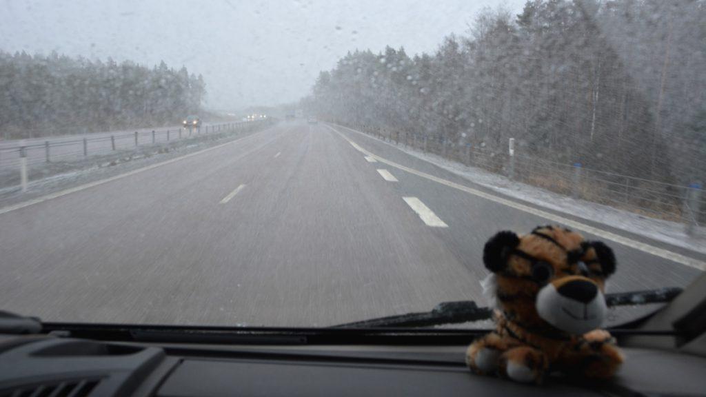 Vägen från Arboga till Stockholm igår