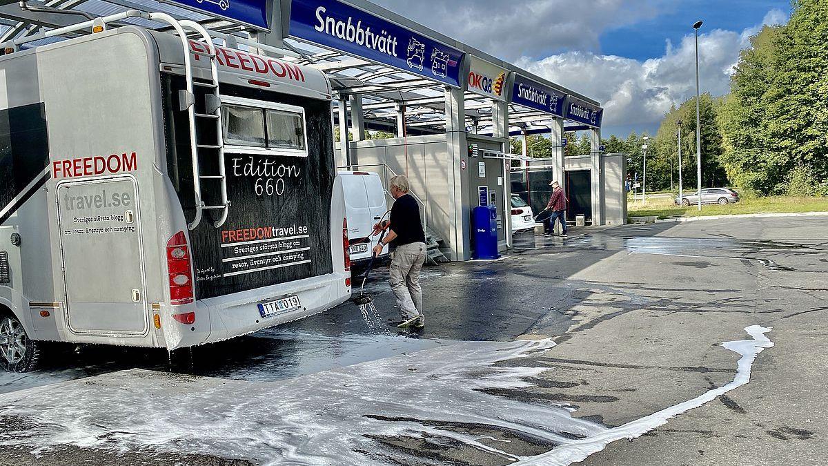 Tvätta husbil i Stockholm