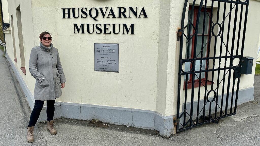 Helena vid Husqvarna museum