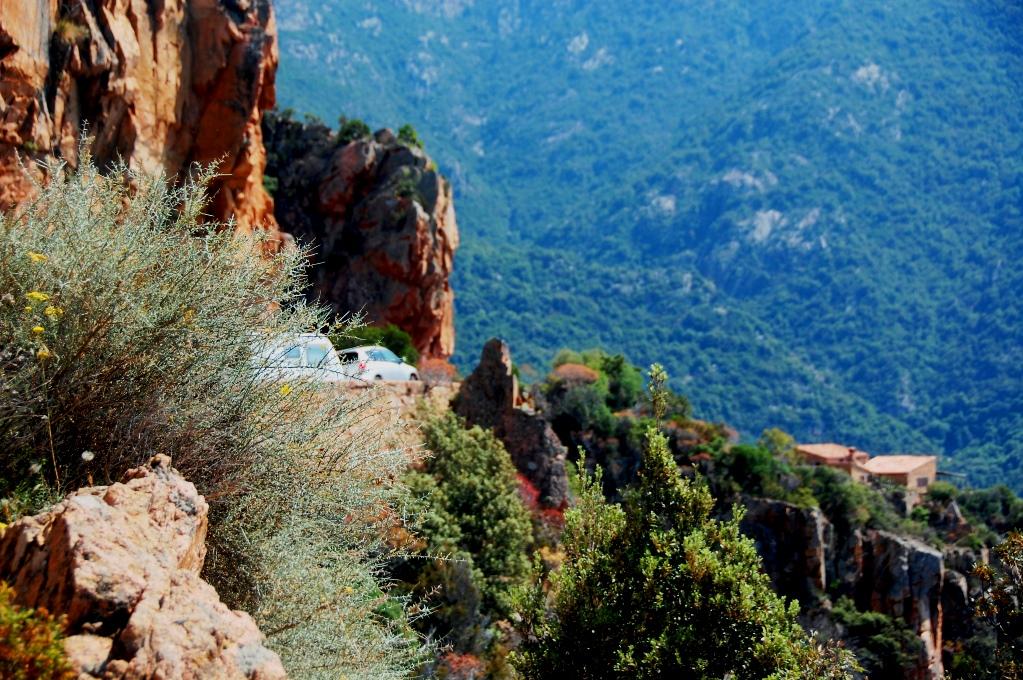 Vägar på västra Korsika