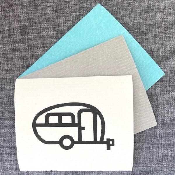 Diskduk Husvagn retro / Disktrasa husvagn retro