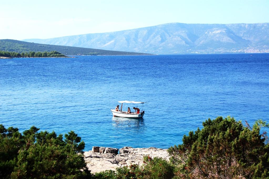 Utsikten från ön Hvar, Kroatien