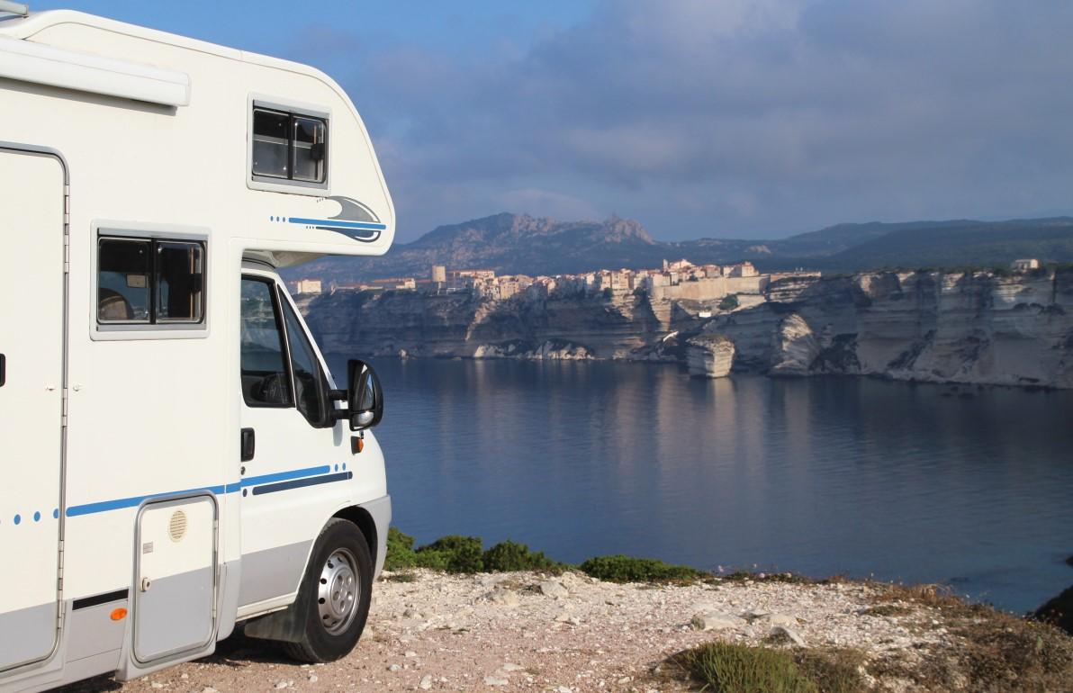 Husbilen i Bonifacio på Korsika