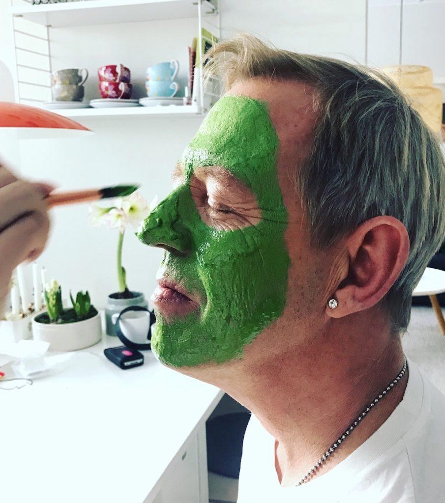 Målad grön