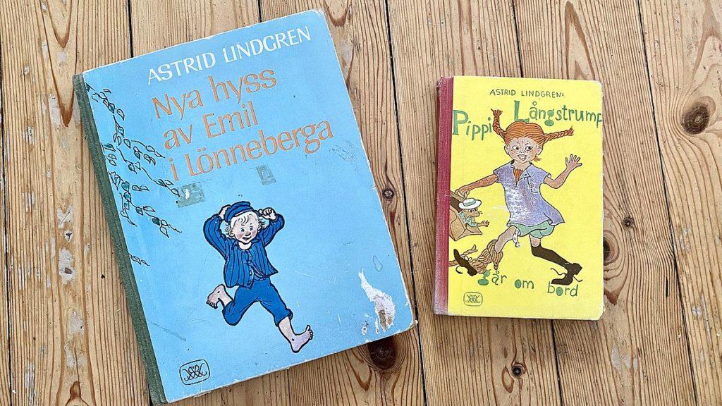 Gamla böcker - Emil och Pippi