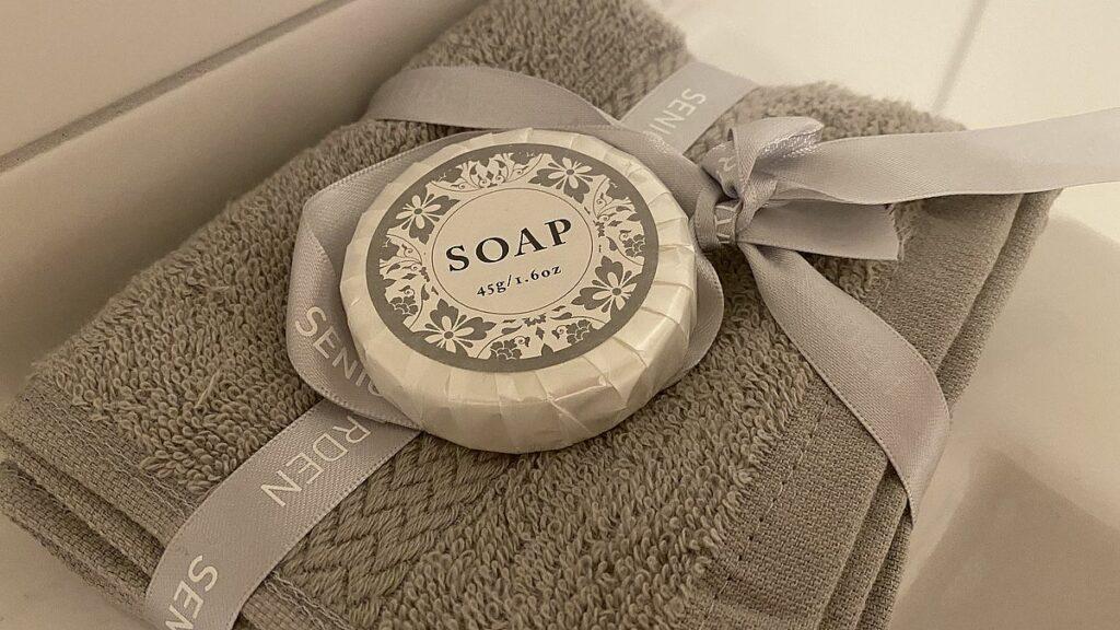 Handduk och tvål