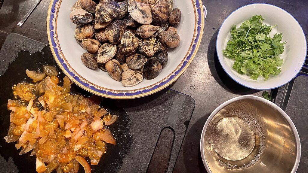 Huvudrätter till nyår - pasta vongole