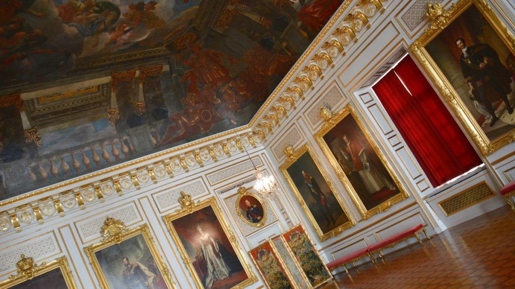 Interiör Drottningholms slott i Stockholm